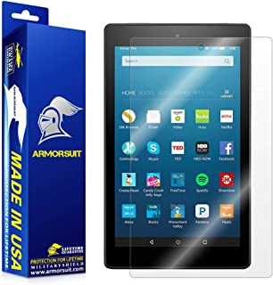 ArmorSuit Fire HD 8 (6th Gen, 2016 Release) Screen Protector Max Coverage MilitaryShield Screen Protector for Fire HD 8 (6th Gen, 2016 Release) - HD Clear Anti-Bubble