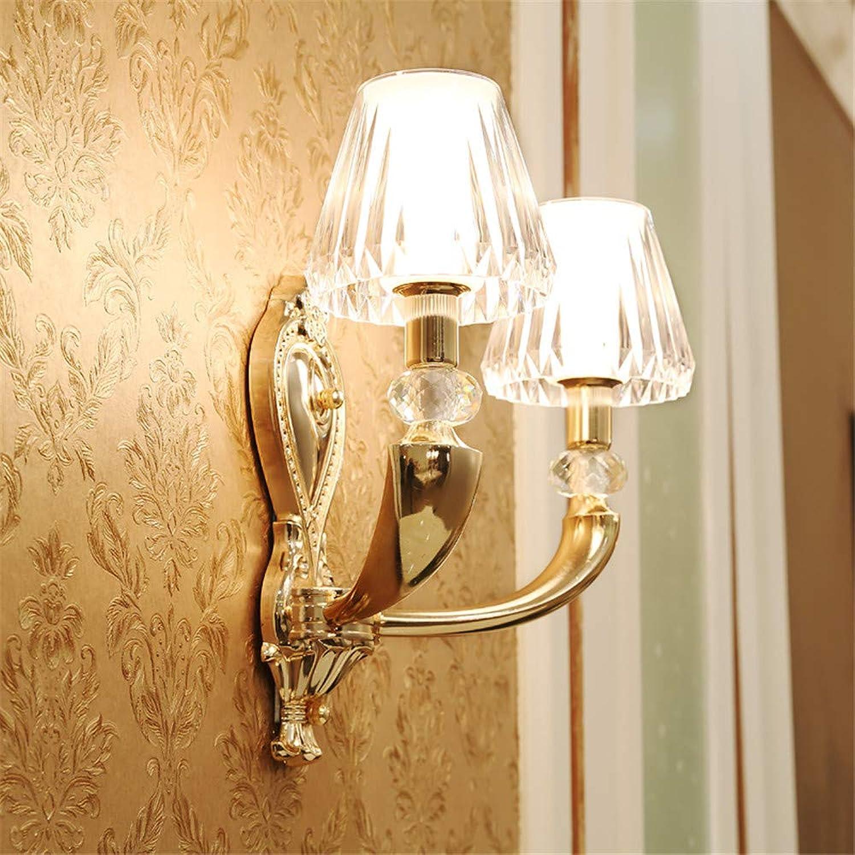 StiefelU LED Wandleuchte nach oben und unten Wandleuchten Zinklegierung Wandleuchten crystal Nachttischlampe in Wohnzimmer, Schlafzimmer Villa, Dual Head