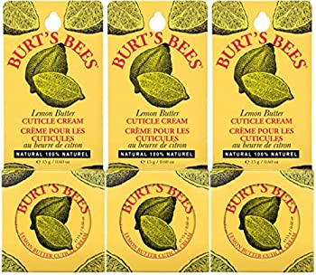 3-Pack Burt's Bees 100% Natural Lemon Butter Cuticle Cream, 0.6 Ounce