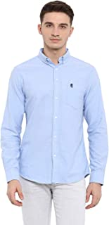 Red Tape Men's Solid Regular fit Casual Shirt (RSF9374A_Light Blue M)