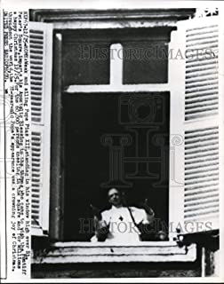 Historic Images - 1954 Vintage Press Photo Weak and ailing Pope Pius XII standing in his window