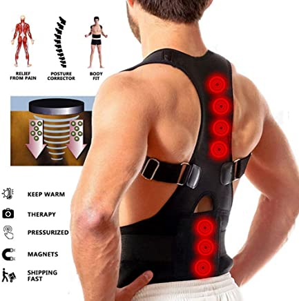 Buyerzone Real Doctor Posture Back Support Brace Belt for Men and Women (XL)