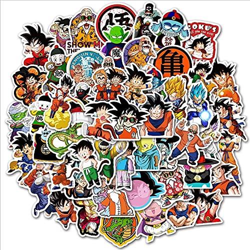 Dragon Ball Z - Adhesivo de vinilo para niños (100 unidades)