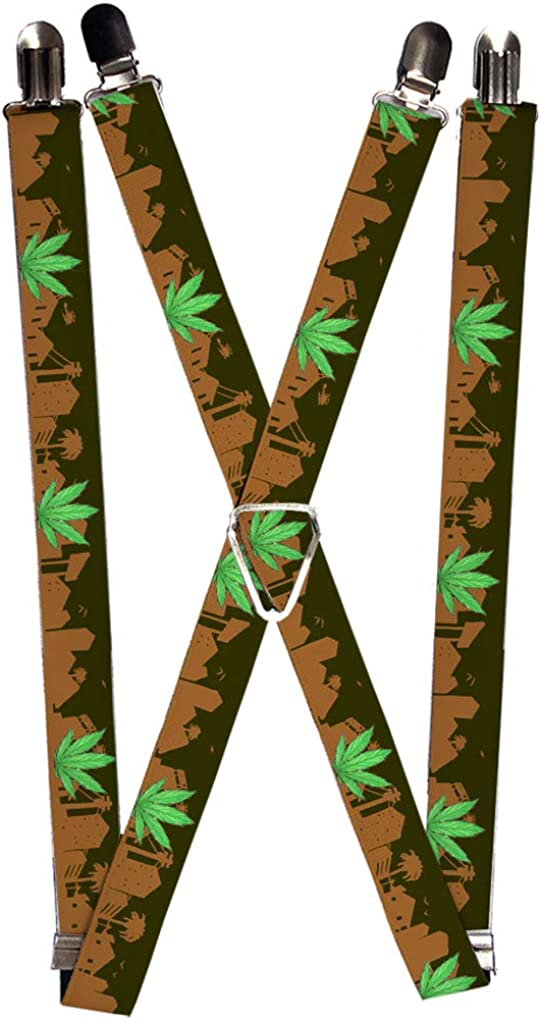 Buckle-Down Men's Suspender-Weed, Multicolor, One Size