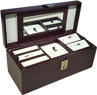 Stones Bridge Exclusive PU Leather Locker Jewellery Box/Jewellery Storage Box/Vanity Box for Women (Brown)