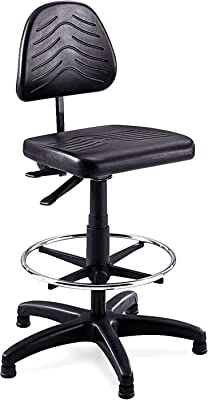 Safco Products Task Master Deluxe Workbench Chair (Additional options sold separately), Black