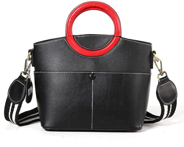 Ladies Handbag Lady Handbag Simple Hand Smile Bag (color   A)