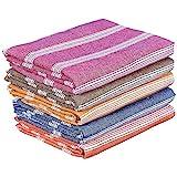 COMFORT WEAVE Cotton Bath Towels (Set Of 5, Multicolour)