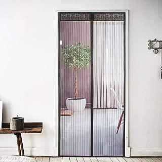 Magnetic Screen Door-Screen Door Reinforced Fiberglass Mesh Curtain Patio Door Mesh with Full Frame&Loop Fits Doors up to 39 x 82-Inch