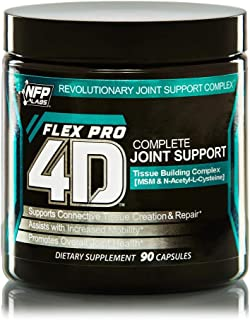 NFP Gear Flexpro 4D Complete Joint Support Supplement with Cissus Quadrangularis - 90 Capsules - Overall Joint Relief and Health - Supports Connective Tissue Creation & Repair in Both Men and Women