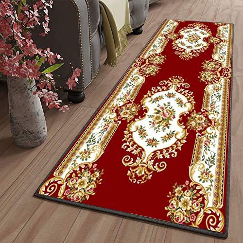 Amazmax alfombras pasilleras Grande Lavables Antideslizante Antiestática Baratas para Pasillo Salón Cocina Baño Lavadero 80x260cm Color2