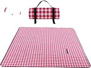 PENGKAI Picnic Tent Bus Car Tent Spring Tour Picnic Tent Baby Play House Red and White Plaid Picnic Mat