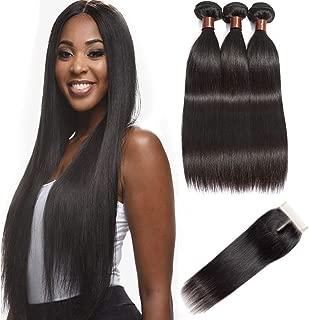 Best brazilian straight hair 3 bundles Reviews