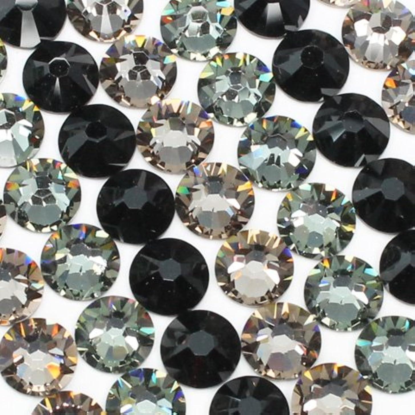 集めるパケット敏感なお試しアートMIX[ブラック]ブラックダイヤモンド、グレージュ、ジェット/スワロフスキー(Swarovski)/ラインストーン ss12(粒30粒)