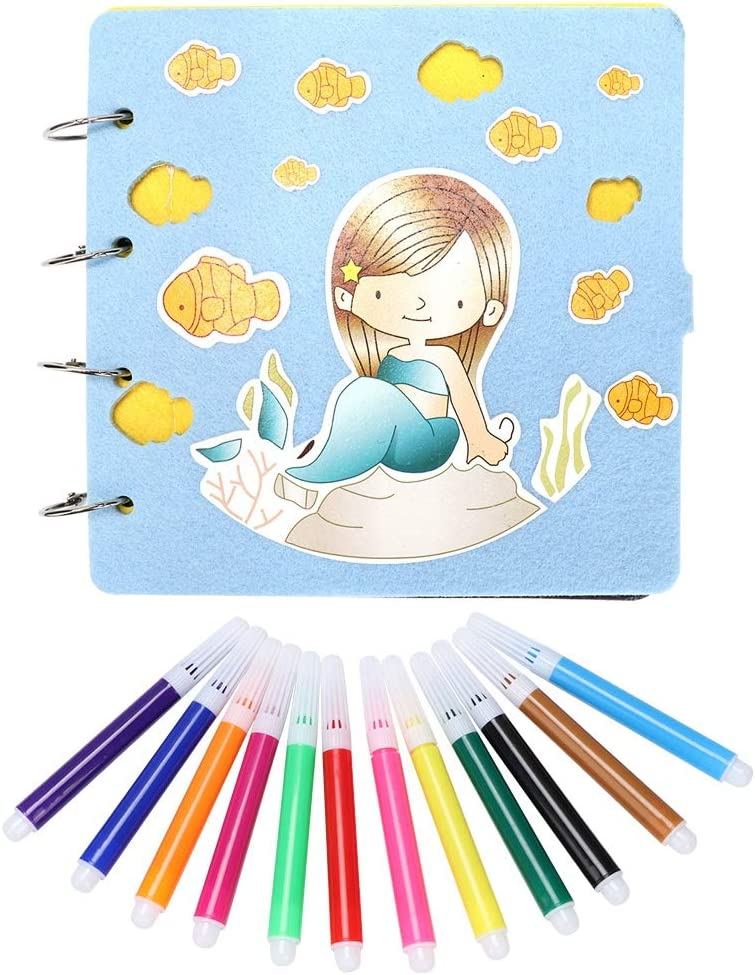 HERCHR Photo Albums Scrapbook Album Challenge the lowest price of Albuquerque Mall Japan ☆ Pens Albu Colorful DIY with
