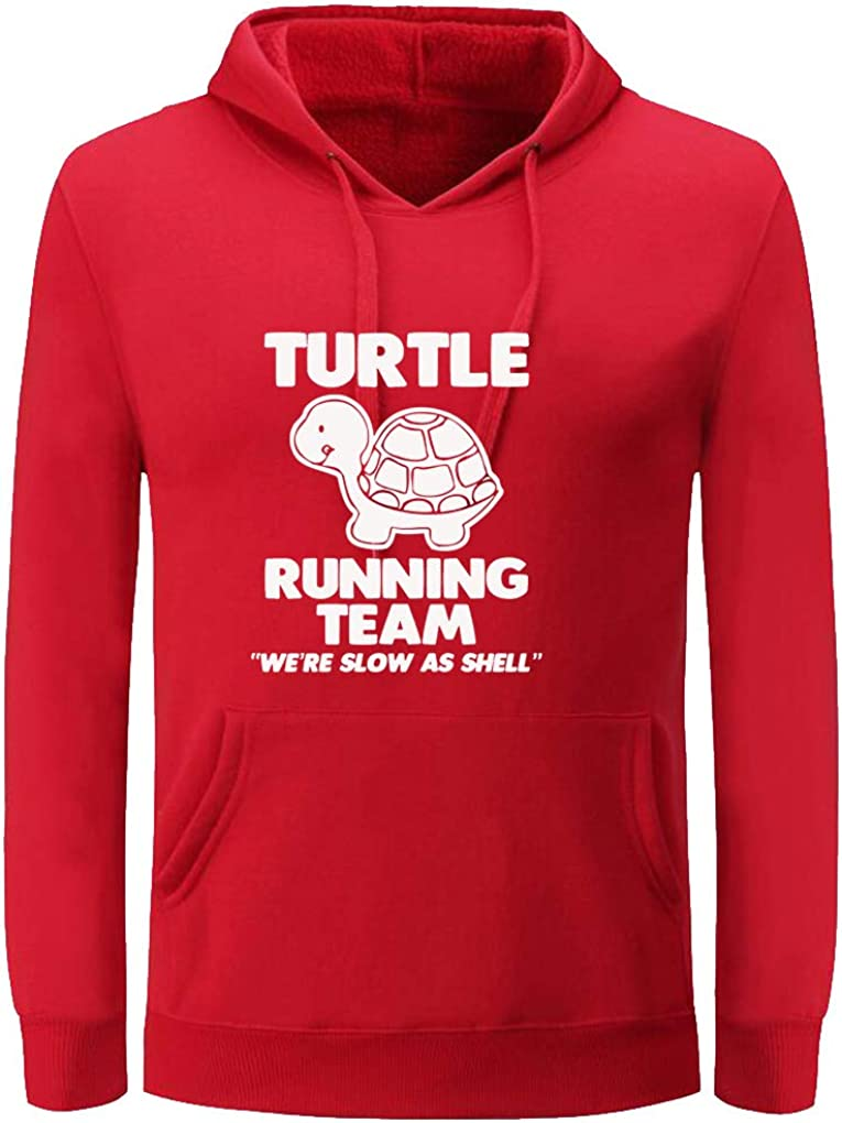 Unisex Very popular Turtle Running Team Funny Women Easy-to-use Hoodiefor Men