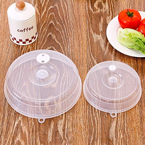 1 Pcs Food-Grade PP Fresh-Keeping Plate Serving Covers, Microwave Heating Sealing Cover Stackable Refrigerator Fresh-Keeping Cover Plastic Cover Bowl (9