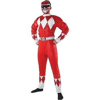 Rubies s Oficial Power Ranger Rojo Adulto Disfraz superhéroe ...