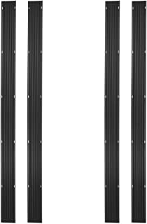 Ice Black 32ft. Snowmobile Ski Carbide Glide Protector Guides - (4) 8ft. Sections