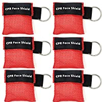 Sicheres und umweltfreundliches Material: Diese CPR-Maske besteht aus medizinischem PVC + Durable Nylon,Einwegventil vermeidet Mund-zu-Mund-Kontakt und Infektion oder Kontamination. Mini Größe für einfaches Tragen: Set von 6 Stück, 1.96x1.96Inch / 5x...
