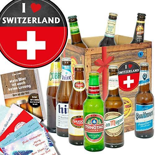 I love Switzerland/Schweizer Geschenkkorb/Biere der Welt