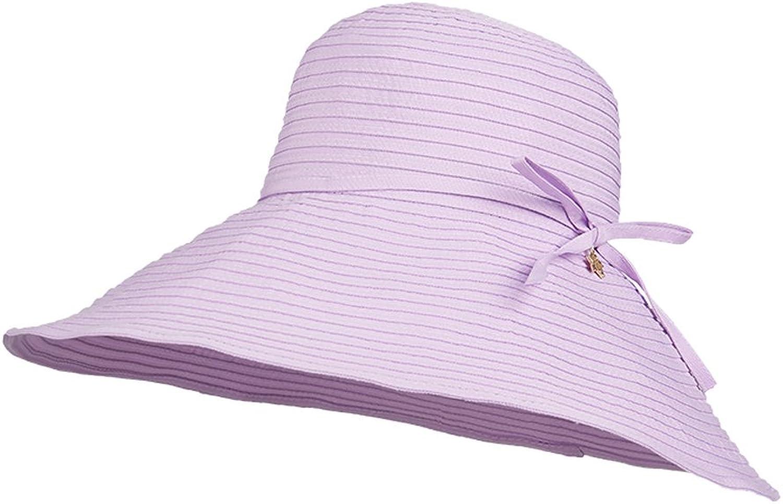Sun Visor Female Sunscreen UV Predection Large Foldable Wild Summer Fashion (color   A, Size   57cm)
