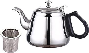 Theepot, (1,2L) dikke roestvrijstalen koffiepot theepot, met filter, voor restaurants, conferentieruimtes, woonkamer