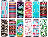 Skinny Can Cooler For Slim Cans (12 Pcs) Slim Can Cooler Slim Can Insulator Skinny Can Cooler Beer Coolers For Cans Slim Tall Can Cooler Can Coolers Hard Seltzer Cool