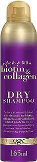 OGX, Shampoo Secco, Biotin & Collagen, per Capelli Fini o Diradati che hanno bisogno di Volume, 165 ml