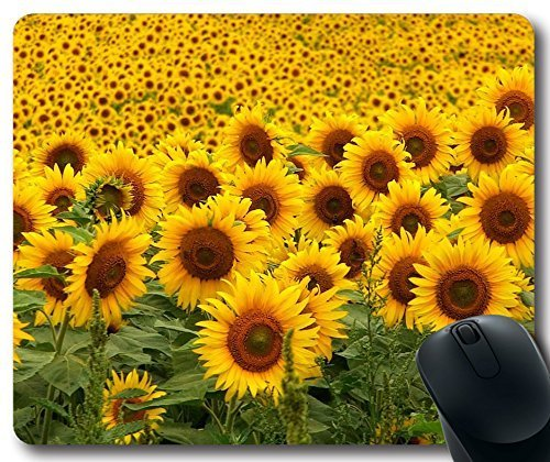 Mouse Pad Sunflowers Mousepad,Custom Rectangular