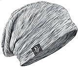 サマーニット帽 メンズニット帽 ニットワッチ ビーニー キャップ 薄手 春夏 B079 (ライトグレー)…
