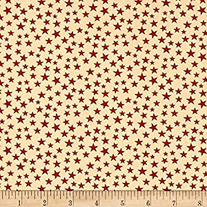 Santee Print Works Patriotic 108'' Quilt Backs Fabric, Red/Antique, Fabric By The Yard