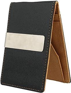 Men's Money Clip Faux Leather Slim Wallet ID Credit Card Holder