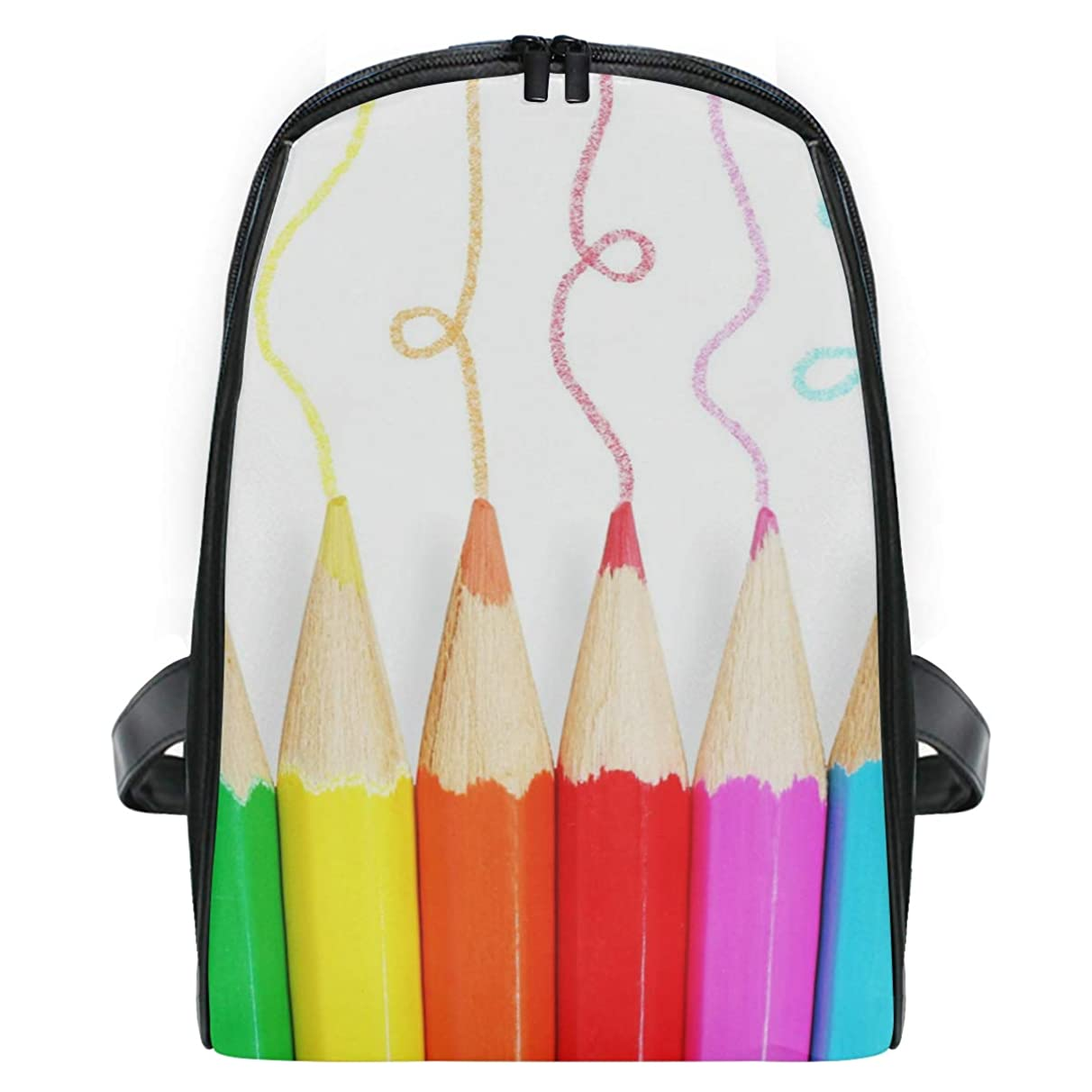 Backpack Colored Pencils Personalized Shoulders Bag Classic Lightweight Daypack