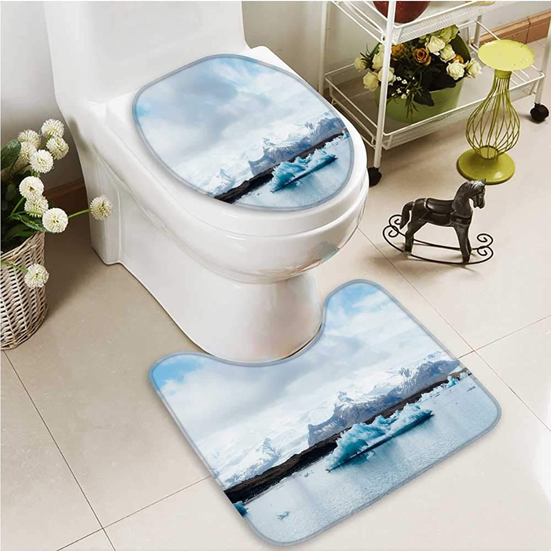 Printsonne Cushion Non-Slip Toilet Mat The Beautiful Scenery of Nature Soft Non-Slip Water
