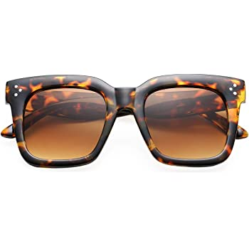BOURYO Retro Oversized Square Sunglasses for Women Flat Lens Sun Glasses Gradient Shades UV400