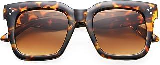 Retro Oversized Square Sunglasses for Women Flat Lens Sun Glasses Gradient Shades UV400