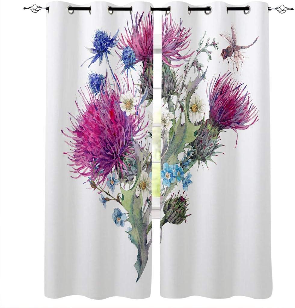 Prironde Regular dealer Blackout Curtains Drapes for Special sale item Bedroom Blooming Flow Kids