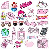 PPOGOO Stickers for Water Bottles, 50 Pcs,Vsco Girl Stickers, Decals Laptop, Waterproof Vinyl, Aesthetic,Trendy Stickers for Teens