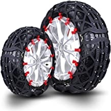 Car Snow Chain Tires Snow Chain Car Off-Road Vehicle SUV Tire Snow Chains Easy to Install (Size : 195/75R15)