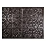 Fasade Easy Installation Traditional 1 Smoked Pewter Backsplash Panel for Kitchen and Bathrooms (18'...