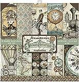 STAMPERIA SBBL53 Papierblock 10 Blätter doppelseitig Voyages Fantastiques, Mehrfarbig, 30.5 x 30.5...
