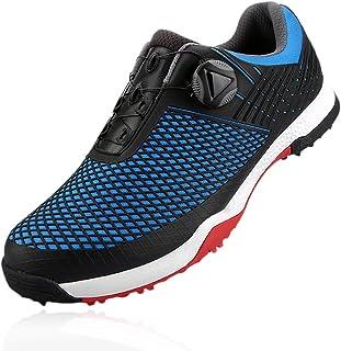 Heren waterdichte disc golf sneakers spikeless ademende sportschoenen met roterende schoengesp en antislip kantelpen voor ...