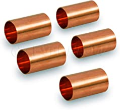 Everflow CCCP0058-5 Straight Copper Coupling Fittings With With Sweat Ends And Dimple Tube, 5/8 Inch,