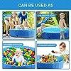 Pecute Neu Hundepool Schwimmbad Für Hunde und Katzen,Swimmingpool Hund Planschbecken Hundebadewanne Faltbarer Pool mit PVC-rutschfest Verschleißfest Für Kinder und Hund Katze #5