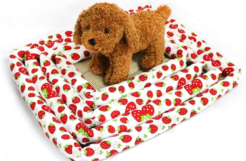 FERZA petsuppliesmisc Bed Summer Ice Sleeping Mat Bamboo Bed Keeping Pets Cool Summer Sleeping Mat for Dog Cat Puppies Pet Bed Blanket Pet Cooling Mat,Cooling Kennel Cage Cooling Pet (S)