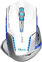 E-3lue EMS601WHAA-NF Mazer II 2500 DPI Blue LED 2.4GHz Optical Portable Mobile Wireless Gaming Mouse Mice for Notebook, PC, Mac, Laptop, Computer, MacBook, White