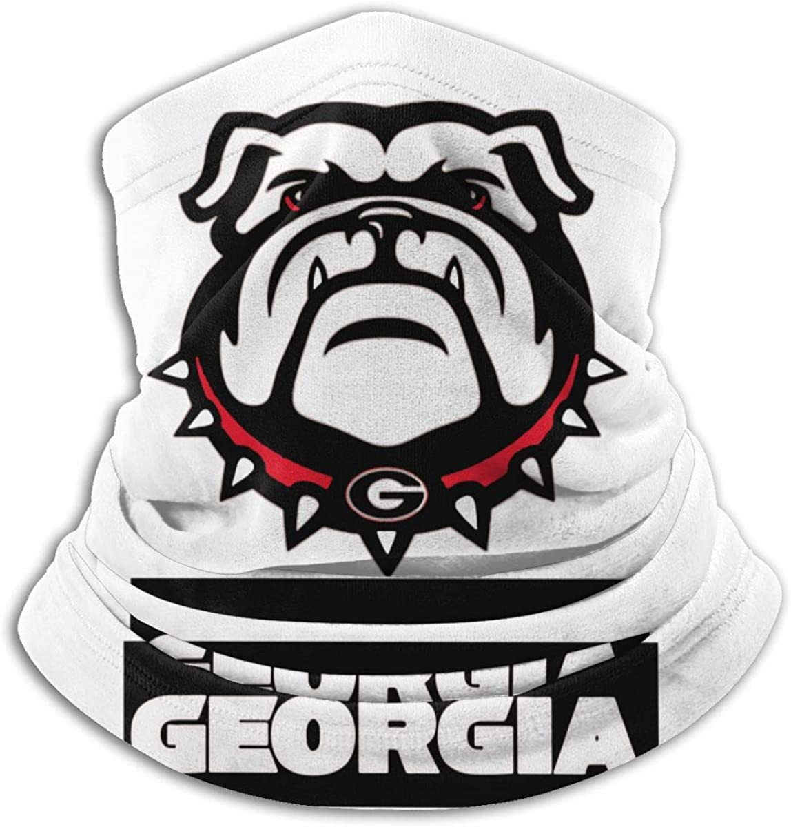 Georgia Bulldogs Black Multi-function Neck Warmer Gaiter Polyester Neck Warmer Windproof Winter Neck Gaiter Cold Weather Scarf For Men Women