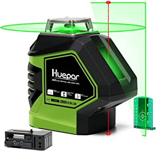 Huepar Self-Leveling Green Laser Level Cross Line with 2 Plumb Dots Laser Tool..