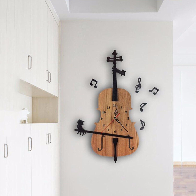 Wanduhr Kreative Uhr, Kunst, Garten, Mode, Wanduhr, Violine, Holz - Dekoration, Die Einfache Wohnzimmer, Quarz - Uhr.